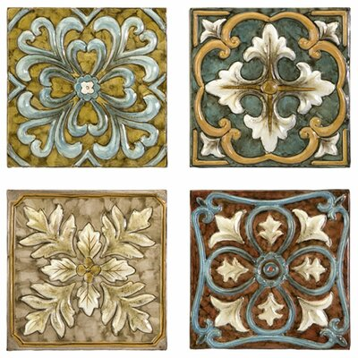 <strong>IMAX</strong> Casa 4 Piece Medallion Tiles Wall Décor Set