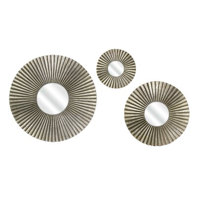 IMAX Piper Round Mirror (Set of 3)