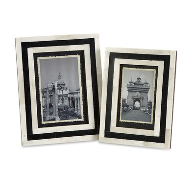 IMAX Bella Bone Inlay Picture Frame (Set of 2)