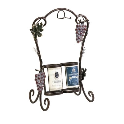 IMAX Vineyard 2 Bottle Wine Rack
