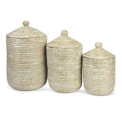 IMAX Aria Sea Grass Storage Basket (Set of 3)