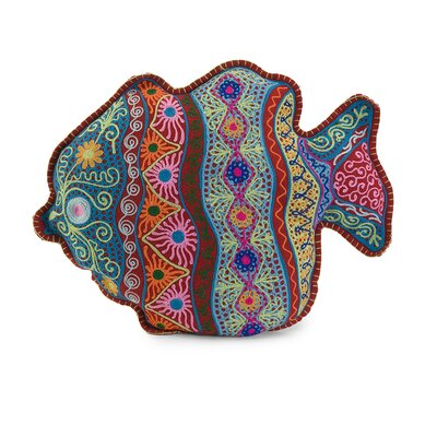 Splash Cotton Fish Pillow