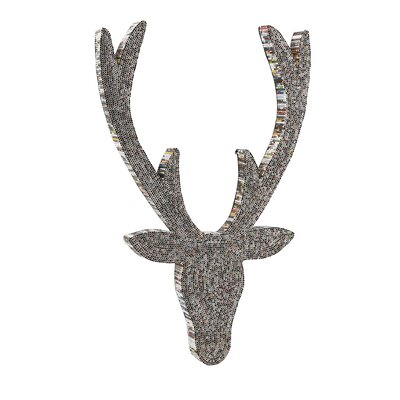 Stanley Recycled Magazine Deer Wall Decor