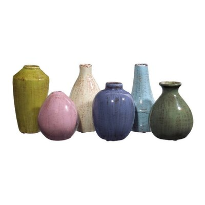 IMAX Mini 6 Piece Vase Set