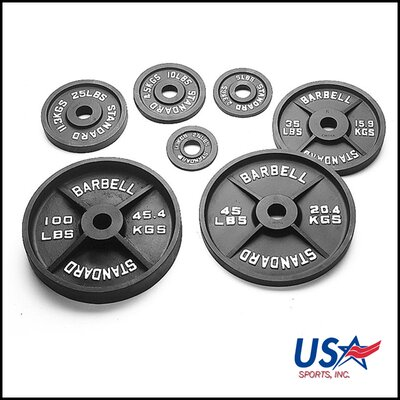 USA Sports by Troy Barbell 5 lbs Olympic Plate in Black