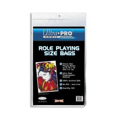"Ultra Pro 10"" x 13"" Role Playing Comic Bags"