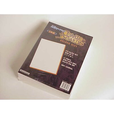 "Ultra Pro 7.5"" x 10.5"" Golden Age Comic Boards"
