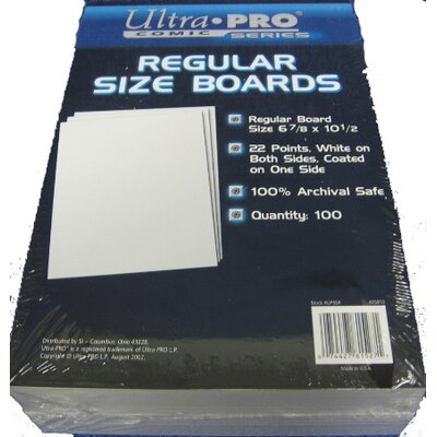 "Ultra Pro 6.8"" x 10.5"" Regular Comic Boards"
