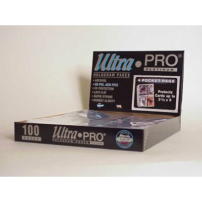 "Ultra Pro 3.5"" x 5"" Postcards Display Box (4 Pocket Pages)"