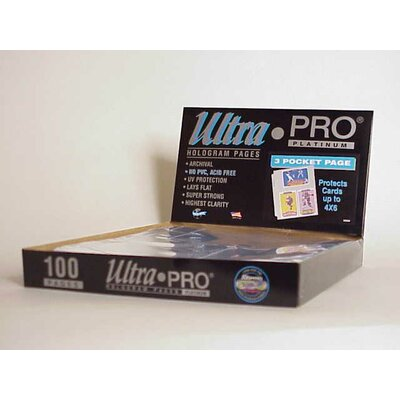 "Ultra Pro 4"" x 6"" Card or Photos Display Box (3 Pocket Pages)"