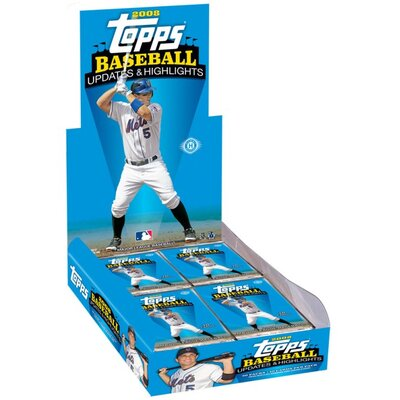 Topps MLB 2008 Trading Cards - Updates and Highlights (36 Packs)