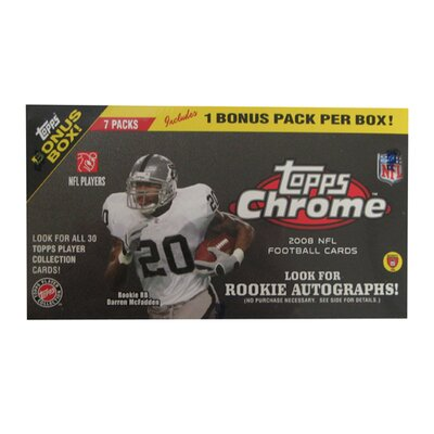 Topps NFL 2008 Factory Trading Card Set - Chrome Blaster (8 Packs)