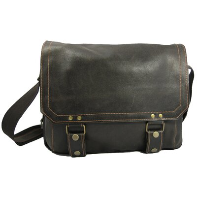 David King Distressed Messenger Bag