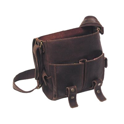 David King East West Laptop Messenger in Distressed Leather