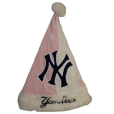 MLB Pink Santa Hat - New York Yankees