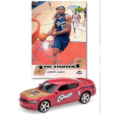 Upper Deck NBA Dodge Chargers Die-cast with Basketball Card - Cleveland Cavaliers