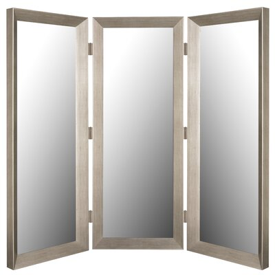 "Hitchcock Butterfield Company 72"" x 72"" Mirror 3 Panel Room Divider"