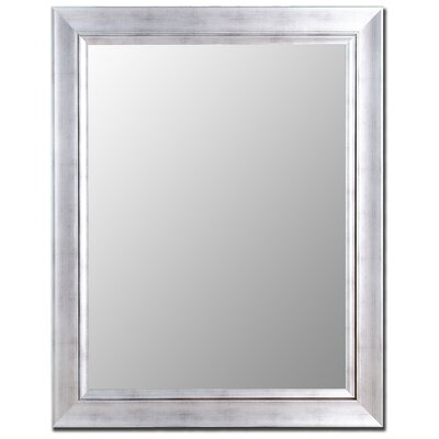 Hitchcock Butterfield Company Vintage Silver / Silver Liner Framed Wall Mirror