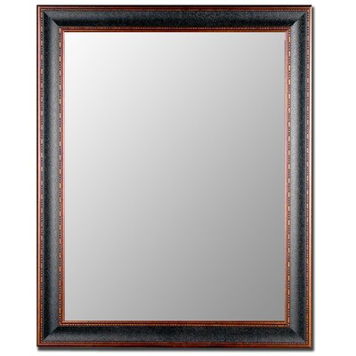 Hitchcock Butterfield Company Textured Black & Copper Framed Wall Mirror