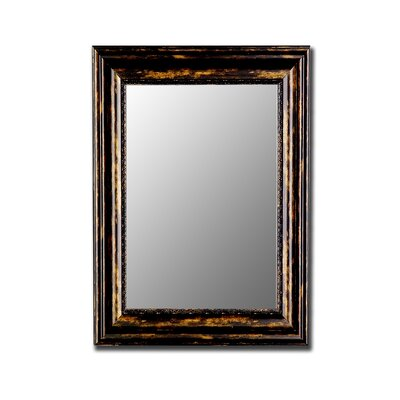 Hitchcock Butterfield Company Antique Copper Black Framed Wall Mirror
