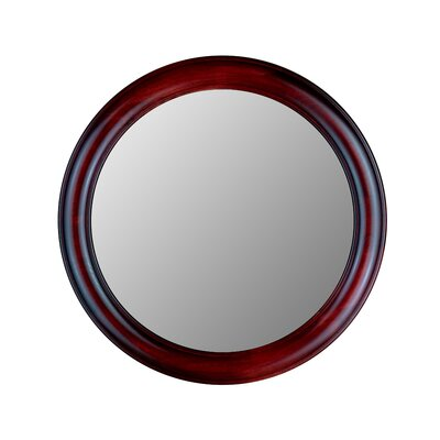 Hitchcock Butterfield Company Round Mirror in Rosewood