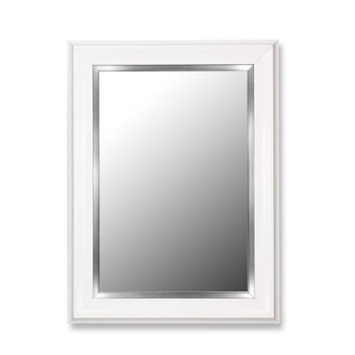 Hitchcock Butterfield Company Mirror in Glossy White Grande with Stainless Liner
