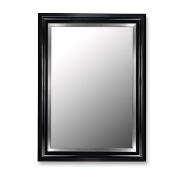 Hitchcock Butterfield Company Mirror in Glossy Black Grande with Stainless Liner