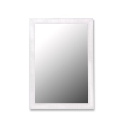 Hitchcock Butterfield Company Nuevo Glossy White & Petite Ribbed Framed Wall Mirror