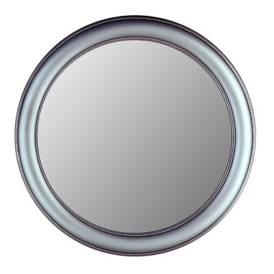 Hitchcock Butterfield Company Round Mirror in Pewter