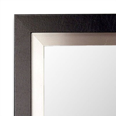 Hitchcock Butterfield Company Manhattan Mirror in Black and Silver