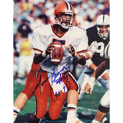 "Steiner Sports Marvin Graves Dropping Back Autographed Photograph with ""90-93"" Inscription"