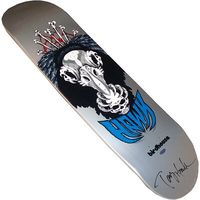 Steiner Sports Tony Hawk Autographed Silver Vulture Deck