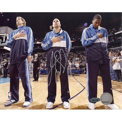 Steiner Sports Jason Kidd Autographed First Game Back with Mavericks National Anthem Photograph