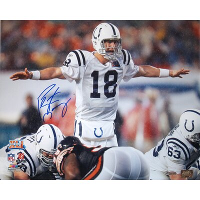 NFL Peyton Manning Colts SB XLI At Line Photographed