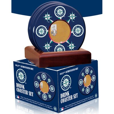 MLB Seattle Mariners Coasters with Game Field Dirt (Set of 4)