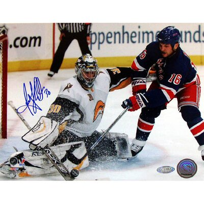 Steiner Sports Ryan Miller Autographed Kick Save Vs. Sean Avery Photograph
