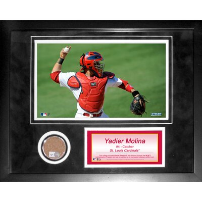 Steiner Sports Yadier Molina Mini Dirt Collage