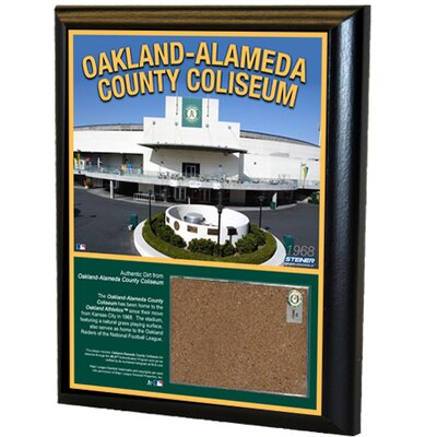 "Steiner Sports MLB Oakland Athletics Game Used 10"" x 8"" Dirt Plaque"