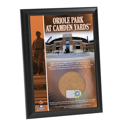 Steiner Sports MLB Oriole Park At Camden Yards Game Used Dirt Plaque
