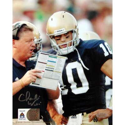 Steiner Sports Charlie Weis with Brady Quinn Autographed Photograph Graph