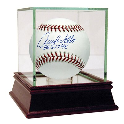 "Steiner Sports David Wells MLB Baseball with ""Pg 5-17-98"" Inscription (MLB Auth)"