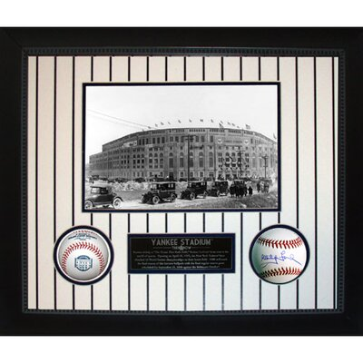Steiner Sports Yankee Stadium Then and Now Collage with Whitey Ford MLB Baseball Shadow Box