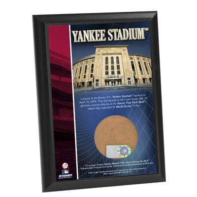 Steiner Sports Yankee Stadium Game Used Dirt Plaque