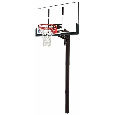 "Spalding 54"" In-Ground Acrylic Basketball System"