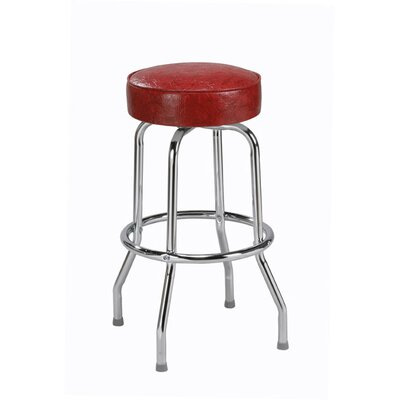 "Regal Steel Ring 30"" Backless Metal Swivel Barstool"