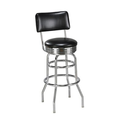 Steel Double Ring Retro Metal Swivel Stool