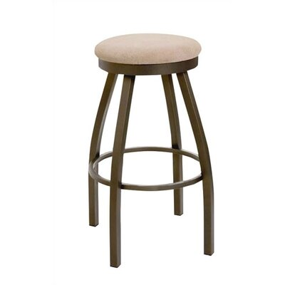 "Regal 26"" Round Backless Swivel Upholstered Barstool"