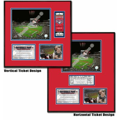 MLB Nationals Park - Ballpark Ticket Frame - Washington Nationals