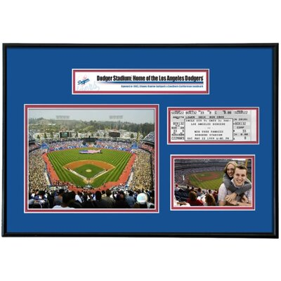 That's My Ticket MLB That's My Ticket Dodger Stadium Ticket Frame (Vertical) - LA Dodgers