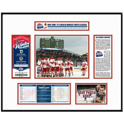 That's My Ticket NHL Winter Classic Ticket Frame - Team Celebration - Detroit Red Wings